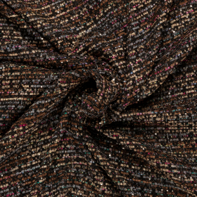 zwart grijs bruin Haute Couture bouclé Italiaans import