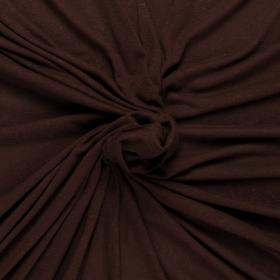 chocolade bruin linnen viscose tricot