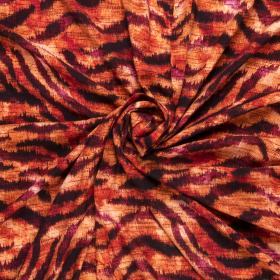 cerise rood oranje zwart animal dessin viscose poplin