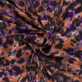 brique paars zwart panter dessin viscose poplin