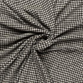 zwart wit gebrushed stretch jersey
