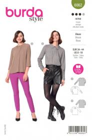blouse (maat 34-44) Burda 6062