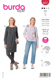 shirt en jurk (maat 34-44) Burda 6077