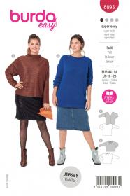 shirt (maat 44-54) Burda 6093