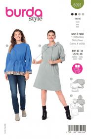 shirt en jurk (maat 44-54) Burda 6095