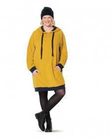 hoodie en jurk met capuchon (maat 44-54) Burda 6195