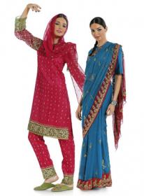 Indiase sari, salwaar kameez met bijpassende sjaal, dupatta (maat 34-46), Burda 7701