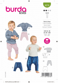 broekje met shirtje (maat 56-86) Burda 9278