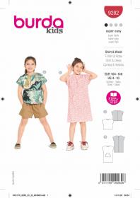 t-shirt en jurkje (maat 104-146) Burda 9282