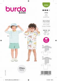 t-shirt en jurkje (maat 92-122) Burda 9284