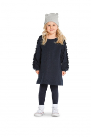 jurkje, trui en hoodie (maat 92-122) Burda 9331