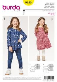 jurkje en blouse (maat 92-122) Burda 9350