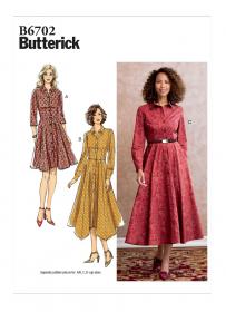 jurk (maat 32-40) Butterick 6702