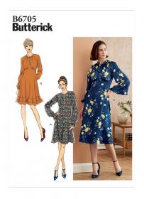 jurk (maat 40-48) Butterick 6705