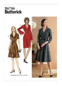 jurk (maat 40-48) Butterick 6706