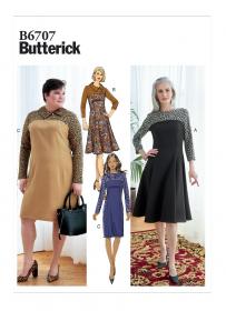 jurk (maat 44-50) Butterick 6707