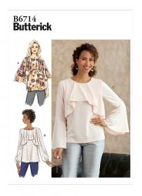 top (maat L-XL-XXL) Butterick 6714