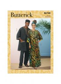 tuniek, kaftan, broek, pet en hoofdsjaal (maatXL-XXL-XXXL) Butterick 6748-XN