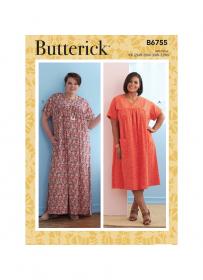 jurk (maat 52-58) Butterick 6755-KK
