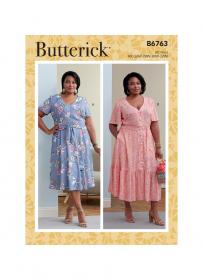 zomerjurk (maat 52-58) Butterick 6763