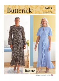 jurk (maat 42-50) Butterick 6823