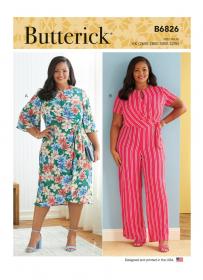 jurk en jumpsuit (maat 44-50) Butterick 6826
