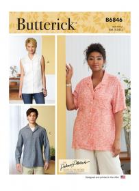 blouse (maat XL-XXXL) Butterick 6846