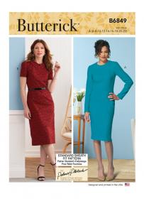 jurk (maat 32-48) Butterick 6849
