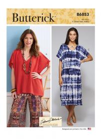 tuniek en jurk (maat L-XXL) Butterick 6853