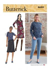 jurk, top, broek en rok (maat XS-M) Butterick 6859
