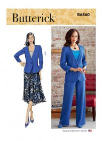 jasje, rok en broek (maat 44-50) Butterick 6860