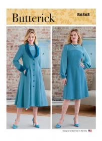 mantel en jurk (maat 44-50) Butterick 6868