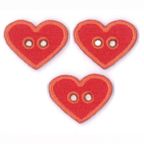 strijk embleem 3 hearts