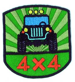 strijk embleem 4 x 4 groen, 55 x 60 mm