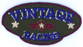 strijk embleem vintage racing