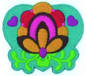strijk embleem folklore flower