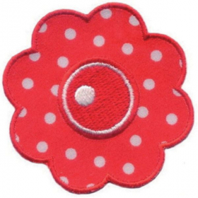 strijk embleem dots flowers 0