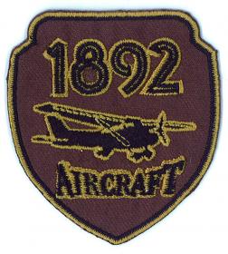 strijk embleem aircraft brown