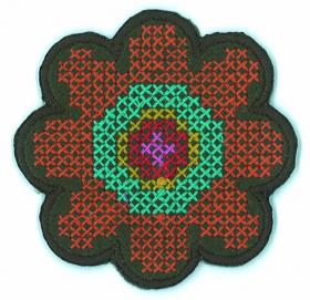 strijk embleem small flower