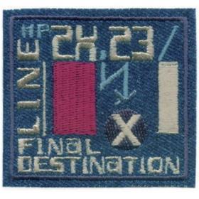 strijk embleem badge denim final destination
