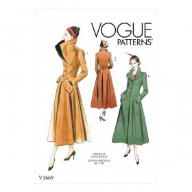 mantel (maat 40-48) Vogue 1669