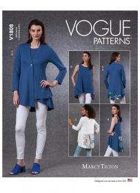 vest en tuniek (maat L-XXL) Vogue 1808