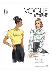 top (maat XS-M) Vogue 1809
