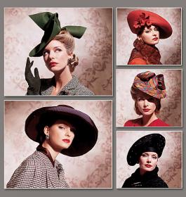 Vintage dameshoedjes, Vogue 7464