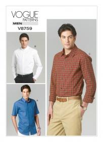 Overhemd (maat 50-56) Vogue 8759