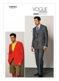 Colbert en broek (maat 50-56) Vogue 8890