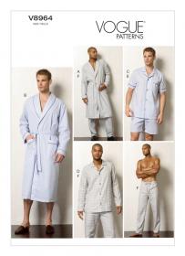 pyjama en badjas (maat 44-50) Vogue 8964
