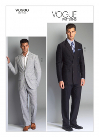 colbert en pantalon (maat 50-56) Vogue 8988